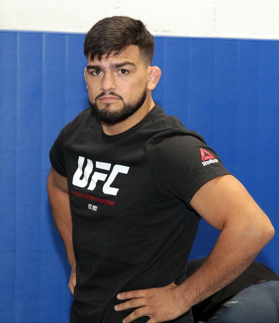 Kelvin Gastelum at the UFC Long Island workouts