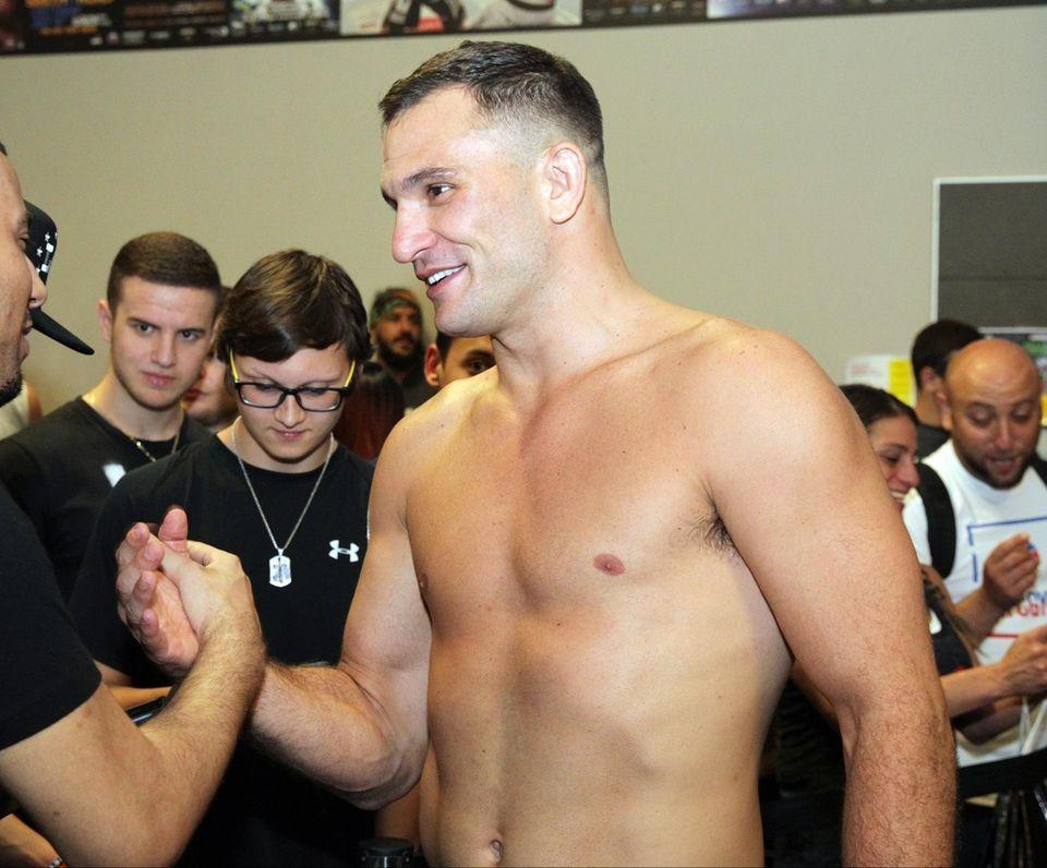 Gian Villante at the UFC Long Island workouts