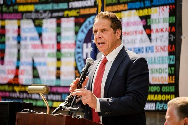 Governor Andrew Cuomo speaks at the ribbon cutting
