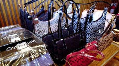 This counterfeit merchandise was confiscated by NYPD officers