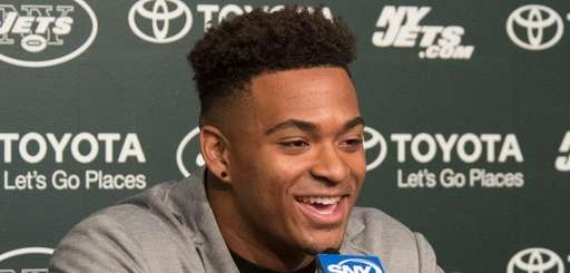 Jets safety Jamal Adams meets with the media