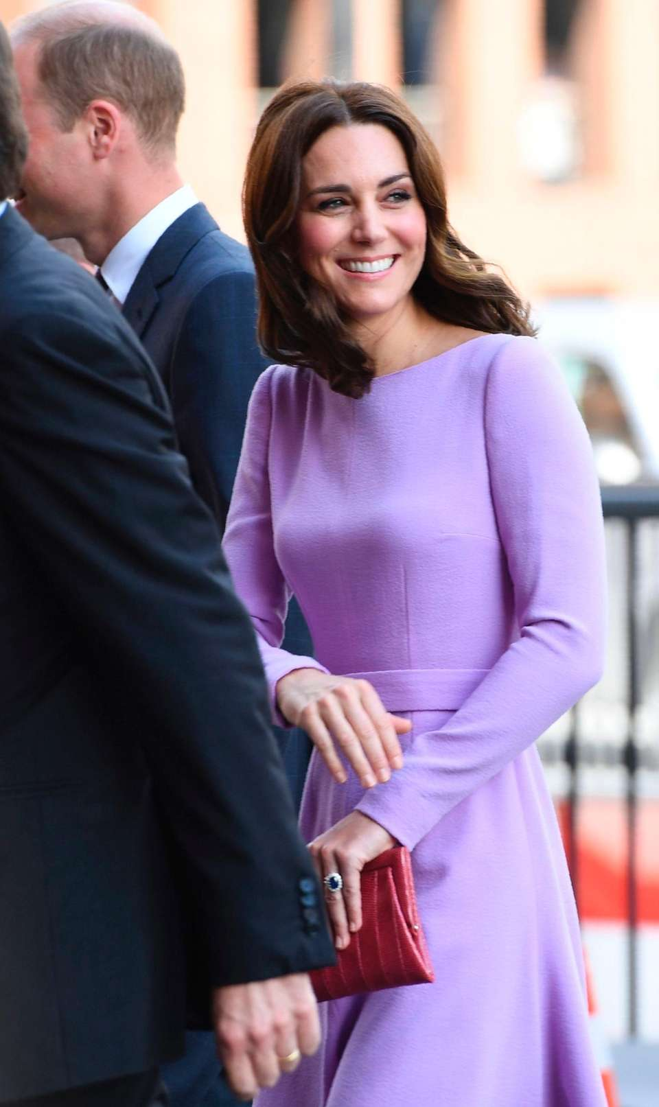 Britain's Dutchess of Cambridge, Catherine, arrives to visit
