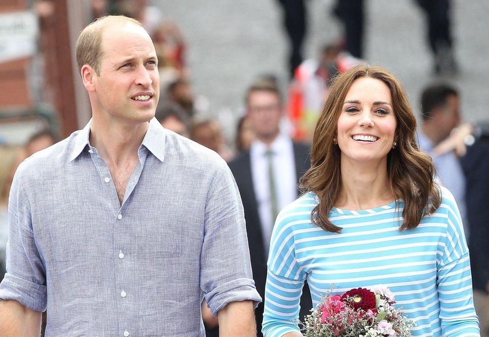 Britain's Prince William, Duke of Cambridge and his