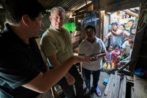 Al Gore, center, in a scene from