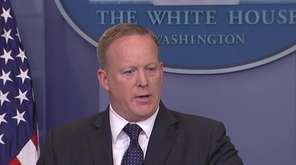 White House Press Secretary Sean Spicer, President Donald