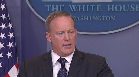 White House Press Secretary Sean Spicer, President Donald