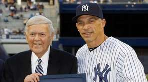 Sportscaster Bob Wolff is honored by Joe Girardi