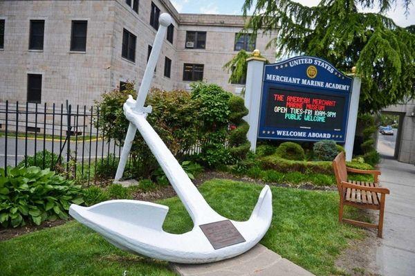 The entrance to the U.S. Merchant Marine Academy