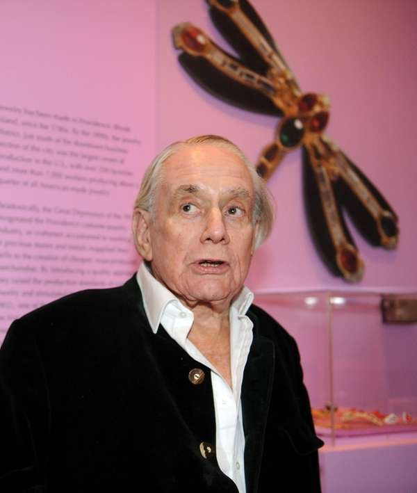 Kenneth Jay Lane at an exhibit for his