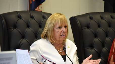 Islip Town Supervisor Angie Carpenter and the town