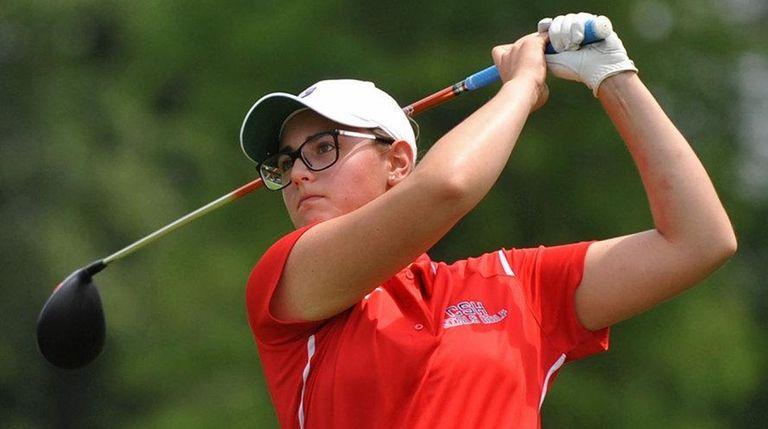 Jennifer Rosenberg of Cold Spring Harbor tees off