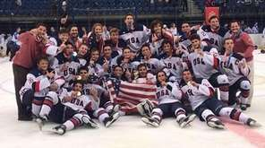Players and coaches from the Team USA junior