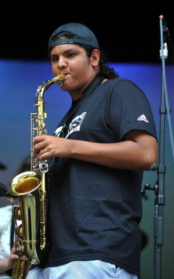 George Ariza of Island Park plays his alto