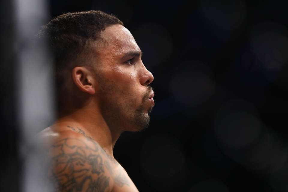Middleweight Eryk Anders stares across the octagon at