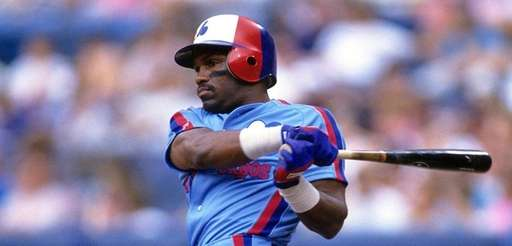 Tim Raines of the Expos bats against