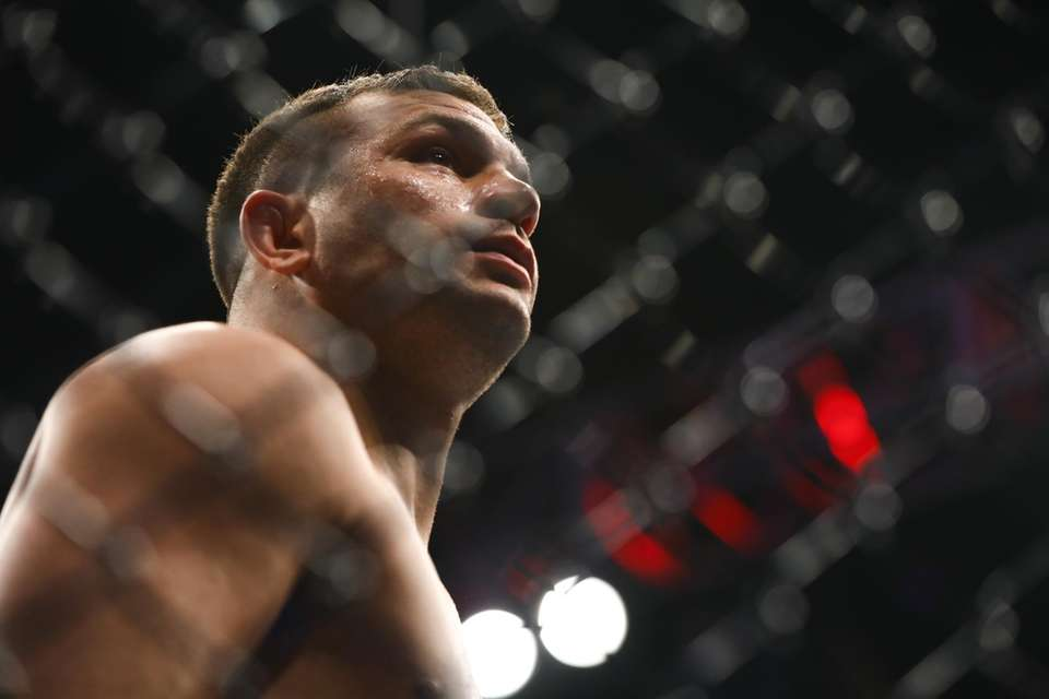 Light Heavyweight Gian Villante in the octagon before