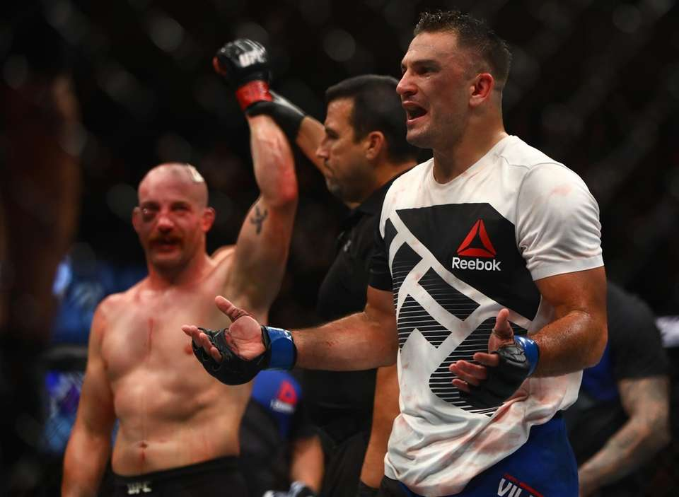Light Heavyweight Gian Villante reacts to the decision