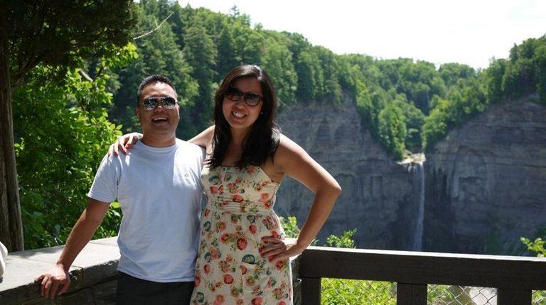 Alexander Choi and Joanna Kim at Taughannock Falls