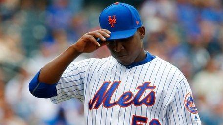 Rafael Montero #50 of the New York Mets