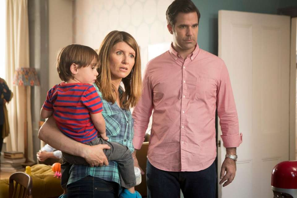 An Irish woman (Sharon Horgan) and American man