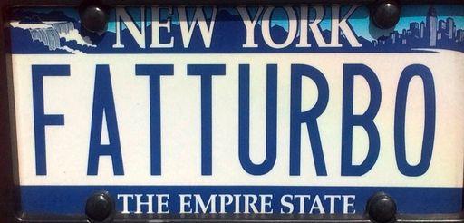 Lou Davi of Garden City sports this plate