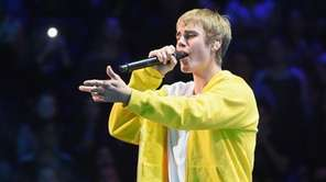 Justin Bieber performs during Z100's Jingle Ball at