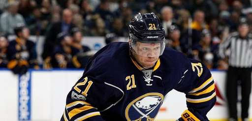 Kyle Okposo #21 of the Buffalo Sabres during
