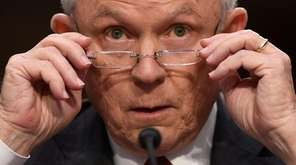 Attorney General Jeff Sessions testifies before the Senate