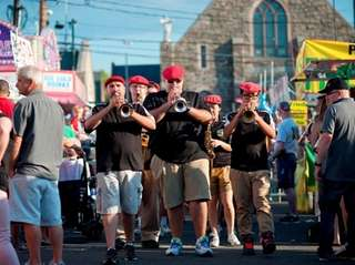 The Giglio Marching Band, under the direction of