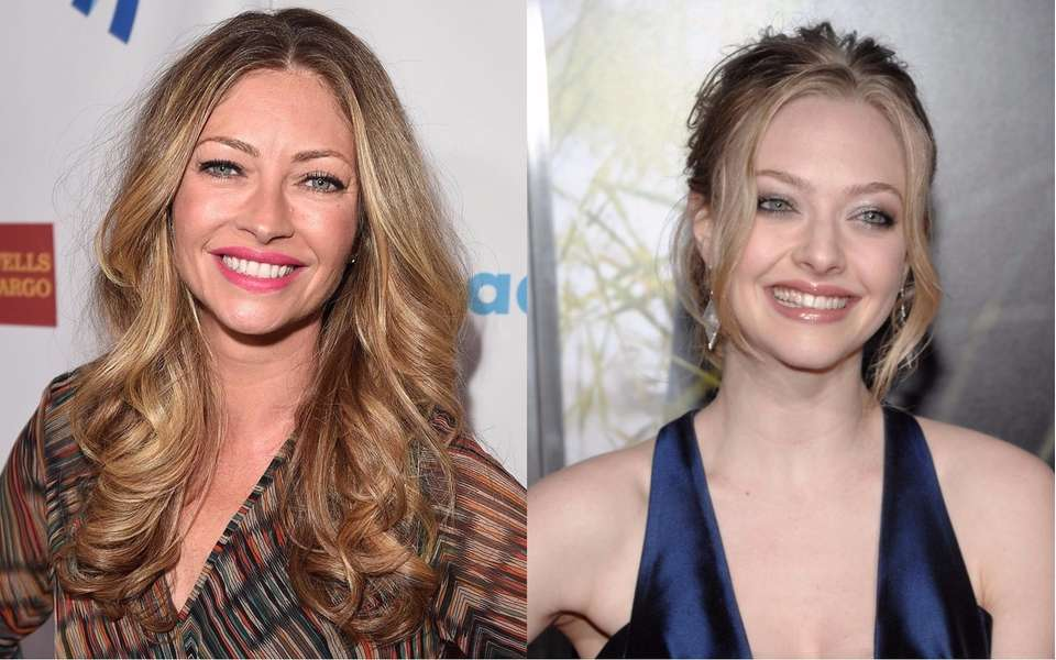 Actress Rebecca Gayheart, left, and Amanda Seyfried.