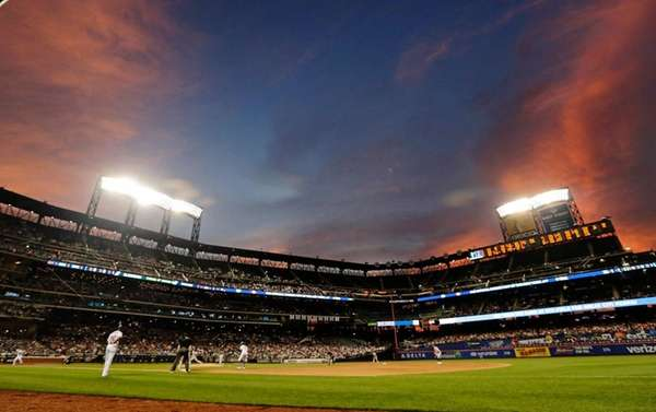The New York Mets play the Oakland Athletics