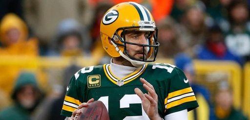 Packers quarterback Aaron Rodgers duringan NFC wild-card game