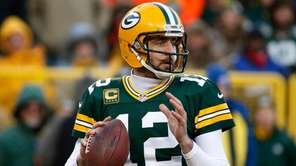 Packers quarterback Aaron Rodgers during an NFC wild-card game