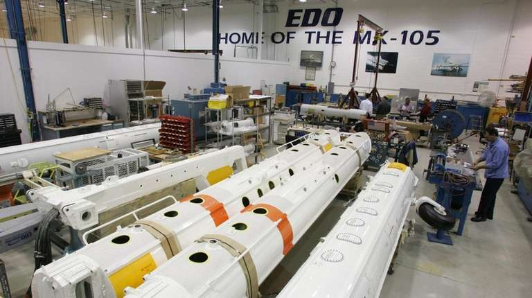 Edo Corp. in North Amityville, which makes aircraft