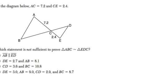 Question No. 24 on the Regents Geometry exam