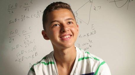Eleventh-grader Ben Catalfo, 16, of Setauket, seen here