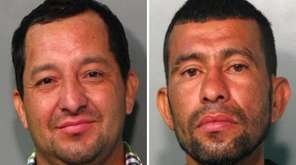 Hamen Gonzales-Cruz, 35, left, and Herberth Hernandez, 40,