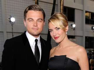 Leonardo Dicaprio and Kate Winslet at the 66th