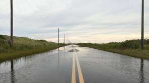 Sections of Dune Road that typically flood during