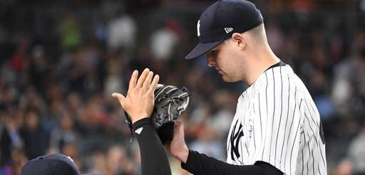 Ronald Torreyes greets Yankees pitcher Jordan Montgomery against