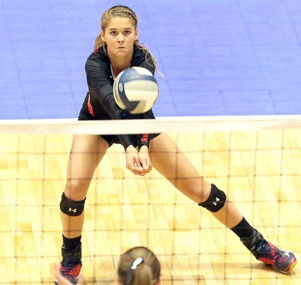 Connetquot's Mackenzie Cole gets the dig during state