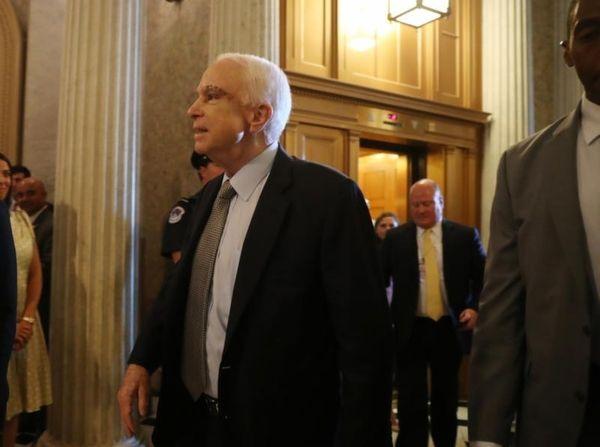 Sen. John McCain, R-Ariz. arrives on Capitol Hill