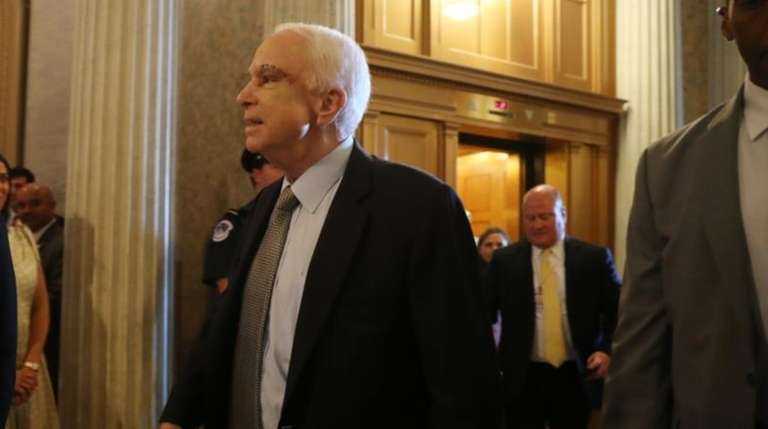 Sen. John McCain, R-Ariz. arrives on Capitol Hill