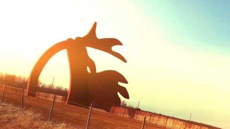 Artist Linda Scott dreamt up the Stargazer sculpture