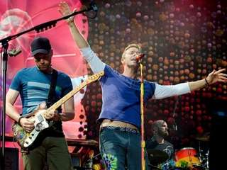 Coldplay's Jonny Buckland and Chris Martin aren't getting
