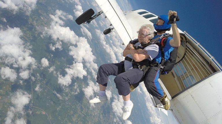 Betty Diem, 84, fulfills a lifelong wish to