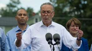 Senate Minority Leader Chuck Schumer and Congressional Democrats