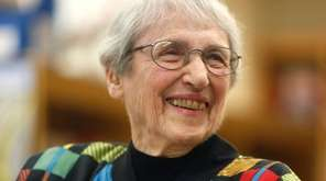 Margaret Lambert, 96, during a ceremony to rename