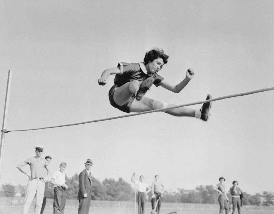 Margaret Lambert, one of the premier high jumpers