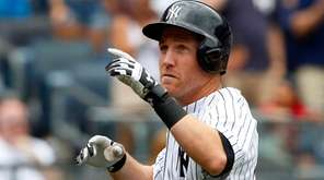 Todd Frazier of the Yankees celebrates his home run